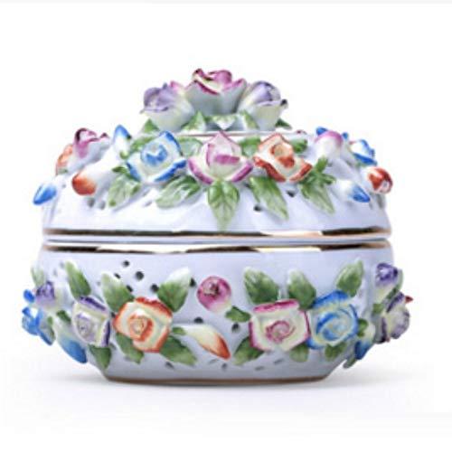 ZYC-WF Inceneritore Di Servizi Igienici Fatti a Mano in Ceramica con Aromaterapia in Ceramica, Aromaterapia in Ceramica, Fiori Secchi Creativi, Aromaterapia, Forno, Confezione Regal
