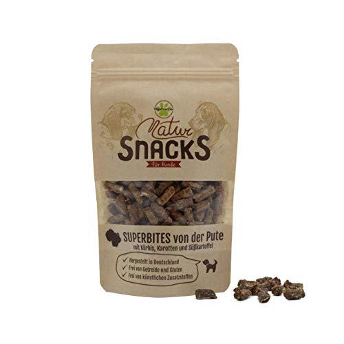 VigoPawtner kleine und softe Hundeleckerli | Mini Trainingssnacks für kleine Hunde | Getreidefrei und natürlich (Pute)