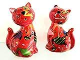 Pomme Pidou - Set de sal y pimienta de cerámica con diseño de flamencos