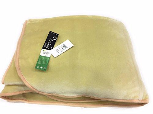 Manta cama individual de Dralon Manterol Art. Polo Color, variante crema, 180 x 240 cm