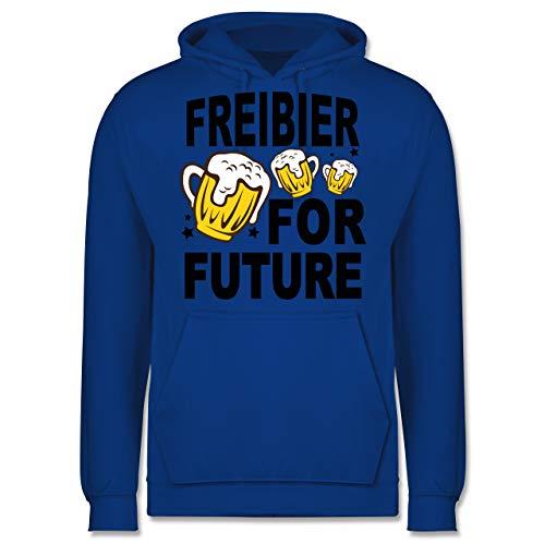 Shirtracer Oktoberfest Herren - Freibier for Future - 3 Biergläser - schwarz - XS - Royalblau - Oktoberfest - JH001 - Herren Hoodie und Kapuzenpullover für Männer