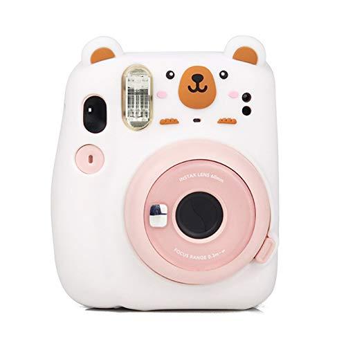 Pumpumly Cute Cartoon Panda Bear Soft Silicone Camera Protective Case Carrying Bag for Fujifilm instax Mini 11 Film Instant Camera