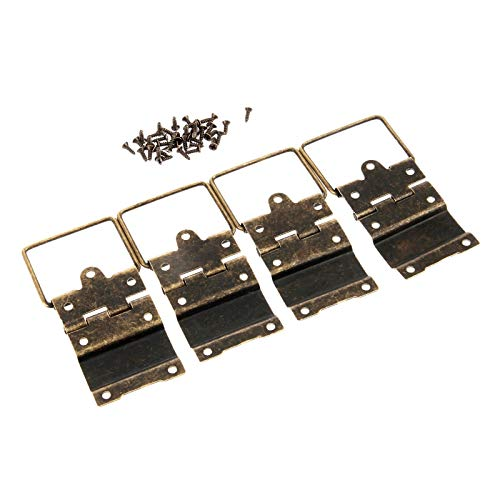 L-Yune,bolt 4pcs 34x53MM Antiguo Gabinete bisagras de Puerta Bisagras de Muebles Accesorios Cajón Joyero bisagras for Muebles de Hardware (Color : Antique Bronze)