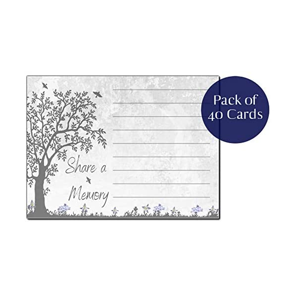Share a Memory Cards for Celebration of Life Funeral Tree of Life Sympathy Memorial Remembrance Acknowledgment Guest Book Alternative 40 ct
