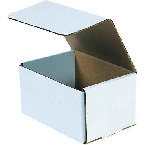 Aviditi White Corrugated Cardboard Mailing Boxes, 7 x 5 x 5 Inches, Pack of 50, Crush-Proof, for Shipping, Mailing and Storing, Oyster White (M755)