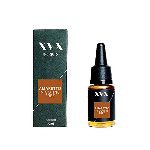 XVX E-Liquid Amaretto Geschmack Elektronisches Liquid Für E-Zigarette Elektronische Shisha Liquid 10ml Flasche Nadelspitze Präzise Befllung Nikotinfrei