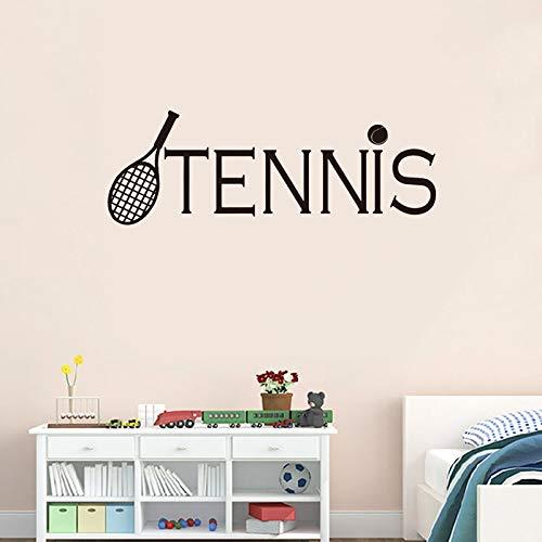Estilo deportivo raqueta de tenis pegatinas de pared dormitorio sala de estar decoración murales del hogar jugador de tenis pegatinas de pared A3 20x57cm