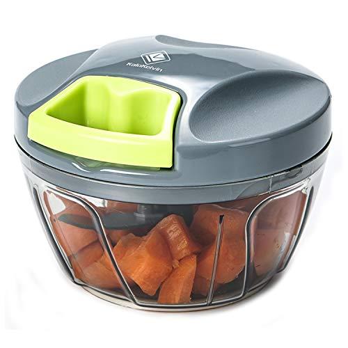 Kalokelvin Chopper Alimentare Manuale Frullatore per Tagliare Frutte/Verdure/Cipolle/Salsa d'Agio/Insalata/Insalata di Cavolo/Polpettone/Salsa di Carne/Cibo per Neonati (400ML)