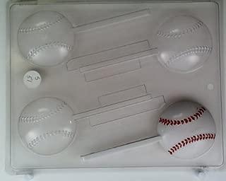 Medium size baseballs S051 Sports Chocolate Candy Mold