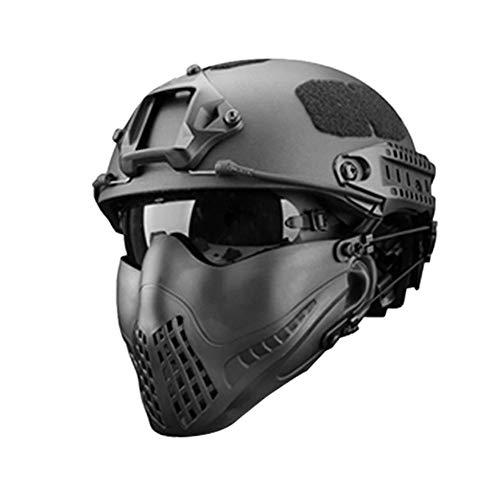 Funihut - Maschera Tattica Esterna, Sistema di Fascia a Due modalità, Maschera Mimetica di Protezione Tattica Esterna, Nero