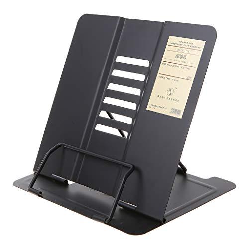 luosh Soporte para Libros Soporte de Lectura Ajustable de Metal portátil Receta Soporte para Libros de Cocina Soporte para Documentos Estante para Libros