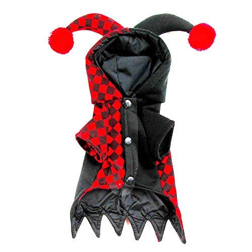 LXFTK Clown cos, Hundemantel, Hunde Herbst Winter Jacke, Pullover Weste Bekleidung Kleidung, Winddicht und Warm, für Halloween, Reflective Soft, für kleine, mittlere und große Hunde-L