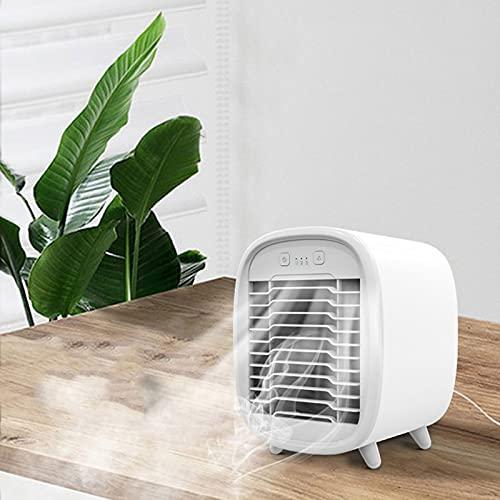 Keeptry Condizionatore portatile – Mini ventilatore da tavolo USB, portatile, Air Conditioner Fan, climatizzatore piccolo con raffreddamento ad acqua, per ufficio e casa, potente e silenzioso