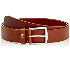 Casual Faux Suede Dark Brown Tommy Hilfiger Belt