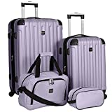 Travelers Club Midtown Hardside 4-Piece Luggage Travel Set, Lilac