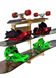Premium Freestanding Snowboard Rack   Storage for: Snowboards, Skis, Skateboards, Scooters, Ripsticks, and More (3 Level)