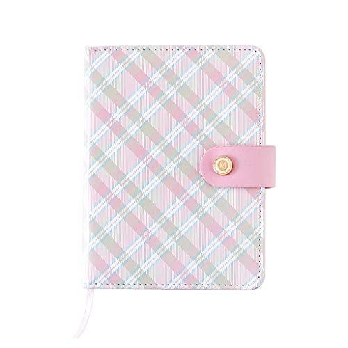 XINGYUE Diario de viaje cuadernos bloc de notas, papelería creativa a cuadros mini portátil portátil cubierta de cuero estudiante cuaderno niños regalo suministros escolares