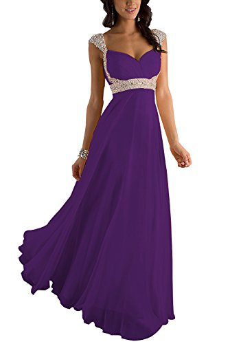 Erosebridal Erosebridal Formal Chiffon Lange Brautjungfernkleider Abendkleid DE 46W Lila