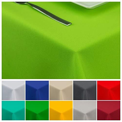 StoffTex Tischdecke Tischläufer Tischtuch Tischwäsche Tischdekoration Tafeltuch (Seladongrün, 120 x 160 cm)
