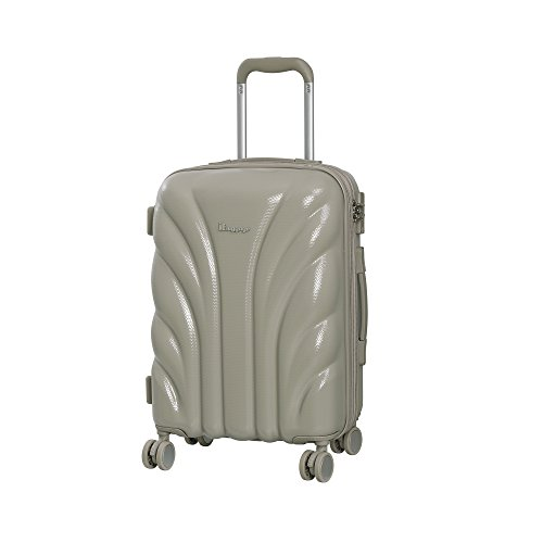 it luggage Cascade 8 Wheel Hard Shell Single Expander Suitcase Cabin with TSA Lock Maleta, 54 cm, 50 Liters, Gris (Cobblestone)