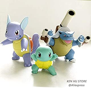 EXTOY Evolution Group Mewtwo Charizard Venus Blastoise Anime Action Toy Figures Collection Model Toy Car Decoration Toy Pks Thing You Must Have Gift Ideas Favourite Movie 5T Superhero Girls Unboxes