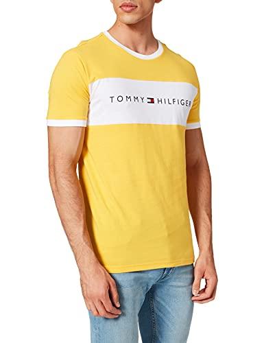 Tommy Hilfiger Herren Cn Tee Ss Logo Flag T-Shirt, Solarenergie, S