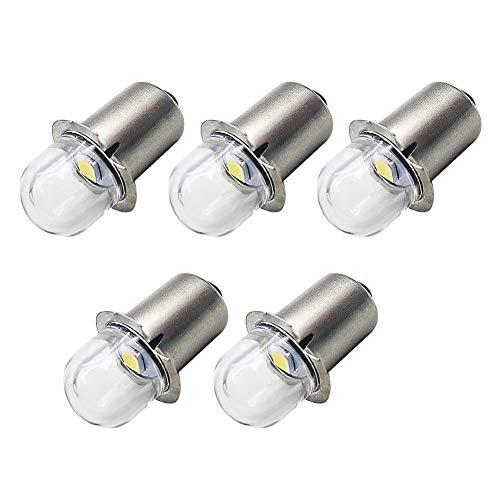 Ruiandsion Upgrade Ampoules de lampe de poche LED P13.5S Prise de base Ampoules LED blanches Remplacement 3V pour lampes de torche de lampe de poche de phare, sans polarité (lot de 5)