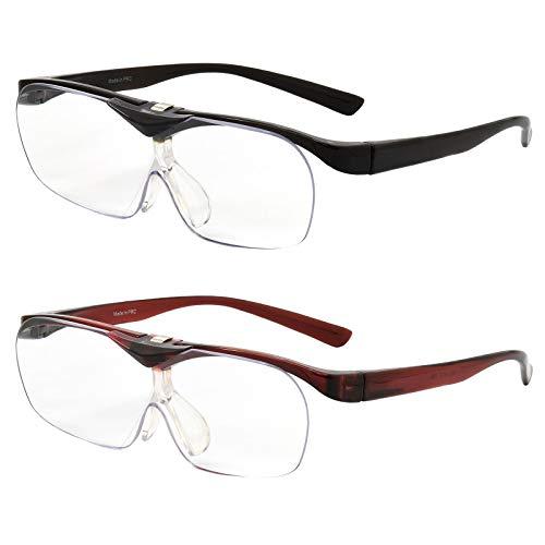 スマートアイ メガネタイプルーペ はね上げ式 2本セット SMARTEYE メガネ めがね 眼鏡 跳ね上げ 掛ける ルーペ 拡大鏡 おしゃれ お洒落 プレゼント ギフト 誕生日 父の日 母の日 敬老の日