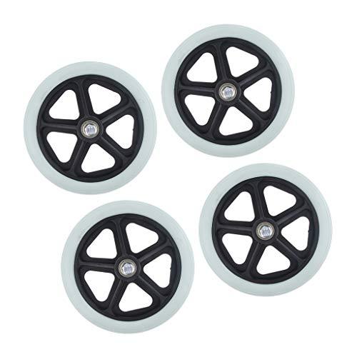 4 Lotes de Neumáticos Sólidos Universales de 7 Pulgadas para Scooters con Rodamiento de 5/16 Pulgadas