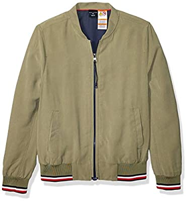 Tommy Hilfiger Women's Adaptive Bomber Jacket with Magnetic Zipper, Deep Lichen Green, MD from Tommy Hilfiger