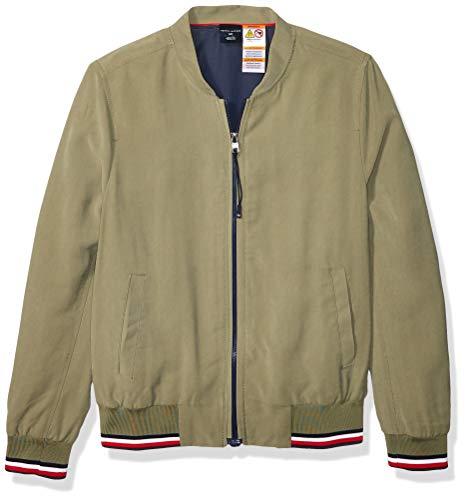 Tommy Hilfiger Damen Bomber Jacket with Magnetic Zipper Jacke, Deep Flechten, Grün, Klein