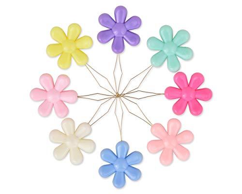 SCSpecial Kit de costura manual de enhebradores de aguja 20 piezas Enhebrador de agujas de coser en forma de flor para bordado en punto de cruz