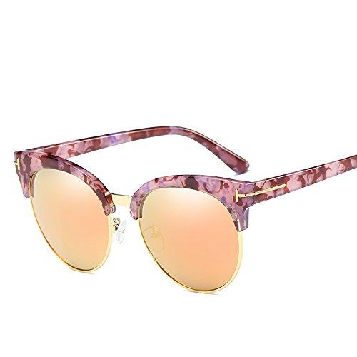 LLZTYJ Gafas De Sol/Viento/Luz/Conducción/Cumpleaños/Regalos/Decoración/Gafas De Sol/Mujeres Big Box Gafas De Sol Redondas/Espejo...