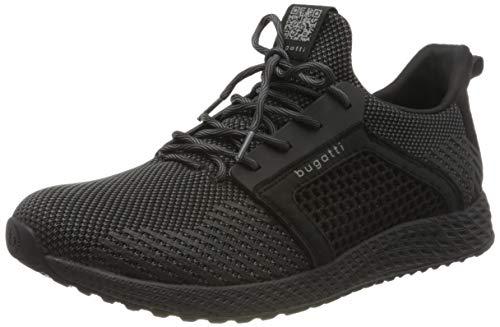 bugatti Herren 342623626955-1011 Slipper Sneaker , black / dark grey , 43 EU