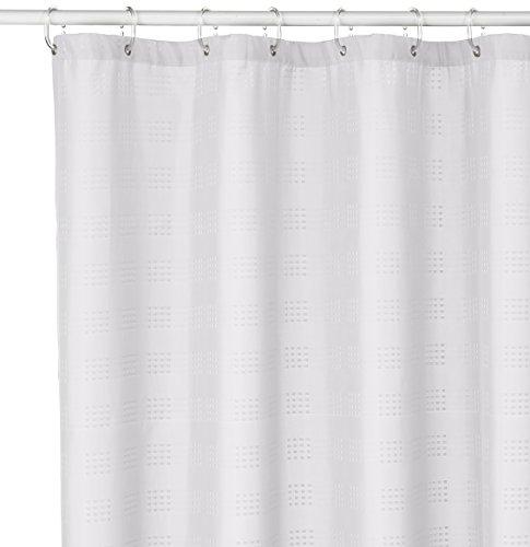 Sealskin Textil Duschvorhang, Quadretta, Farbe: Weiß, B x H: 180 x 200 cm