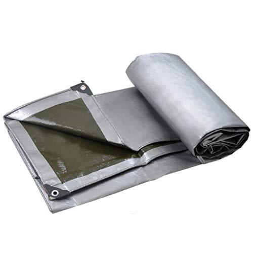 WZNING Tarpaulin Sheet Pvc Coated Cloth, Multi-Purpose Quality Tarpaulin Shading Heat Insulation - Gray Green Durable and protective (Size : 2.8m*4.8m)