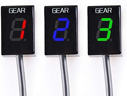 Blau for KTM EXC 250 300 400 450 500 Non FI Model All Years Motorrad Ganganzeige LED 1-6 Schaltlicht anzeigen Meter Instrumente Drehzahlmesser