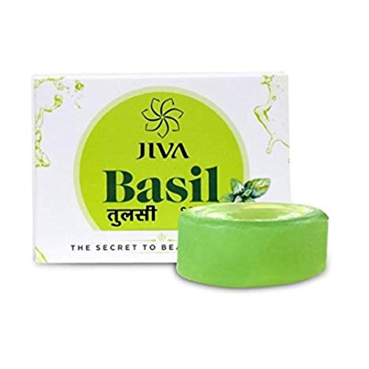 例外不振自分の力ですべてをするJiva Ayurveda Basil Soap
