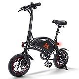 urbetter Bicicleta Electrica Plegable, Batería 36V 10Ah, 40-60 Km Alcance, 25 Km/h, 3 Modos de Conducción, Ruedas de 12 Pulgadas 250W Motor Bici Electrica Urbana con Pedales para Adulto