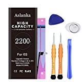 Aslanka Battery for iPhone 6s, New 2200mAh High Capacity Battery Replacement, with Repair Tools and Installation Manual-(2-Year Warranty)
