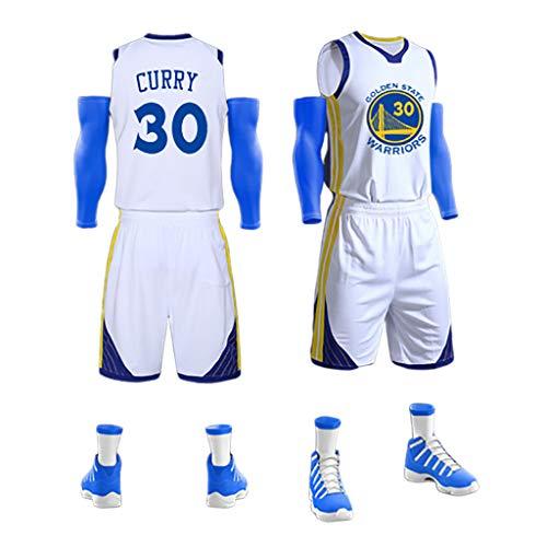 WNGJ Curry # 30, Maglia da Basket Canotta Top Pantaloncini Estivi Jersey Set, Maglie da Basket Larghe Senza Maniche A-2XL