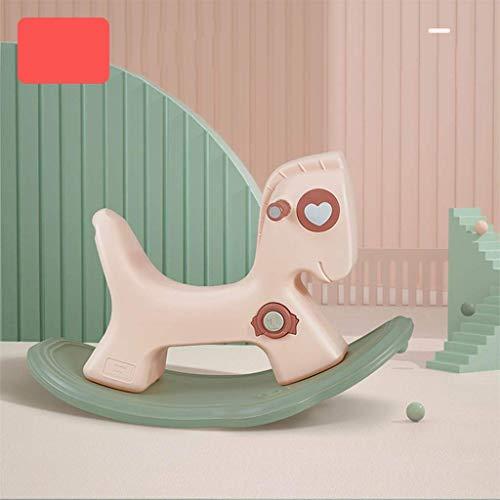 Schaukelpferd Kinder Zwei-in-one-Baby Kleine Trojan Baby-Jährig Geschenk-Erschütterung-Auto-Spielzeug (Farbe: A2) LQH (Color : A2)