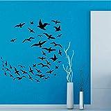 Calcomanías De Pared De Pájaros De La Libertad Muchas Gaviotas Volando Vinilo Pegatina De Pared Calcomanía Decoración Del Hogar Murales Artísticos Sala De Estar 60 * 59