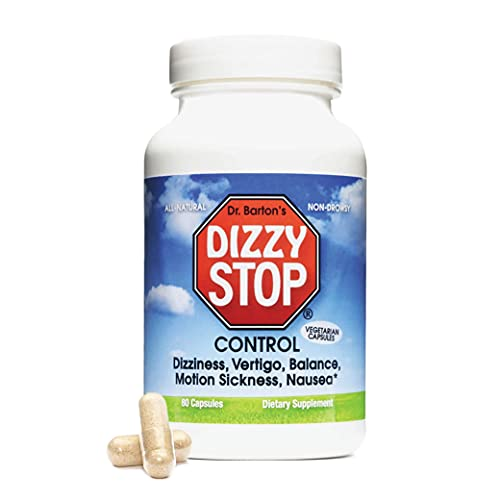 DizzyStop - All-Natural Herbal Supplement for Motion...
