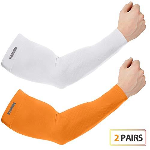 KMMIN Arm Ärmel, Unisex Wärmer UV-Schutz Ärmel zum Fahren Radfahren Golf Basketball Wärmer Kühlarm Ärmel UPF 50 Sunblock Schutzhandschuhe für Männer Frauen Erwachsene