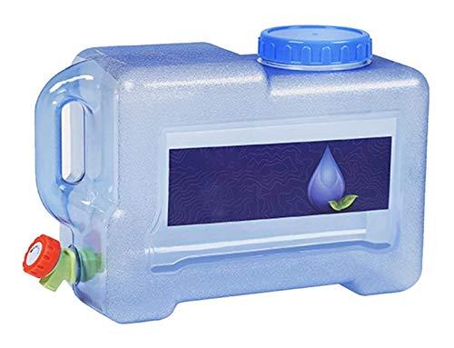 8L Camping Senderismo Senderismo Cubo de agua Contenedor portátil Almacenamiento Bucket de agua potable con toque Cubo de viaje al aire libre Caja fuerte y gran capacidad Adecuada para viajes de campo