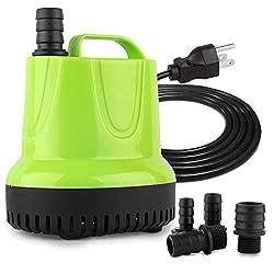 powerful FREESEA 840 GPH 60W Pond, aquarium, hydroponics, aquarium, submersible water pump for fountains …