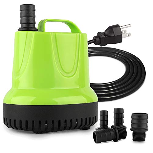 FREESEA 660GPH 40W Submersible Pump with Bottom Suction Strainer for Aquarium, Small Pool, Statuary, Pond, Hydroponics
