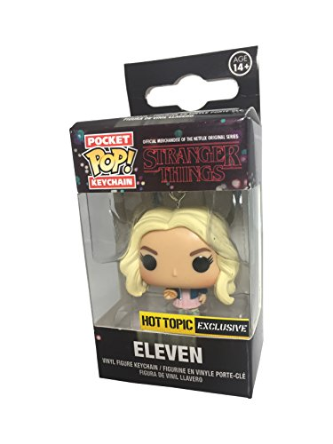 Funko - Porte Clé Stranger Things - Eleven Blond Hair With Wig Pocket Pop 4cm - 0889698142267