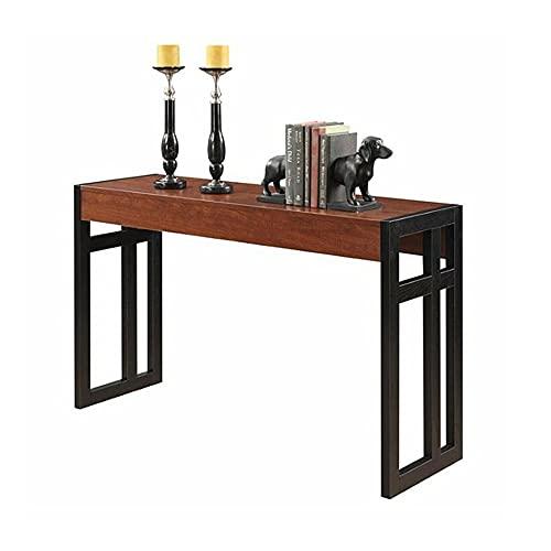 Liang - Tavolo consolle rustico | Tavolino da casa | Tavolo in legno in stile industriale con gambe in metallo | Arredamento ingresso corridoio